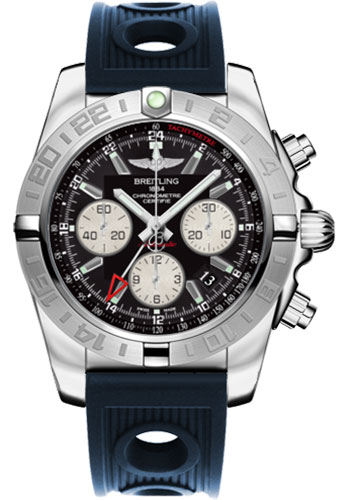Breitling Watches - Chronomat 44 GMT Stainless Steel on Ocean Racer - Style No: AB042011/BB56-ocean-racer-blue-folding