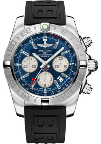 Breitling Watches - Chronomat 44 GMT Stainless Steel on Diver Pro III Tang - Style No: AB042011/C851-diver-pro-iii-black-tang