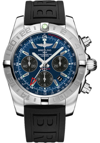 Breitling Watches - Chronomat 44 GMT Stainless Steel on Diver Pro III Tang - Style No: AB042011/C852-diver-pro-iii-black-tang