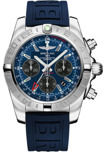 Breitling Watches - Chronomat 44 GMT Stainless Steel on Diver Pro III Tang - Style No: AB042011/C852-diver-pro-iii-blue-tang