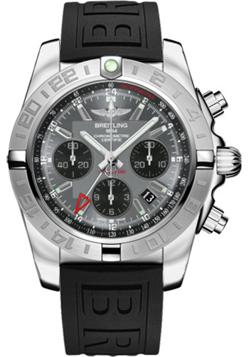 Breitling Watches - Chronomat 44 GMT Stainless Steel on Diver Pro III Tang - Style No: AB042011/F561-diver-pro-iii-black-tang