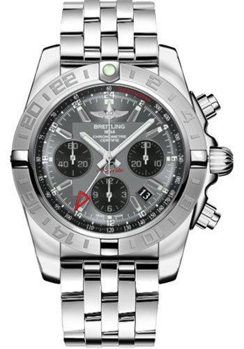 Breitling Watches - Chronomat 44 GMT Stainless Steel Bracelet - Style No: AB042011/F561-pilot-steel
