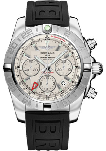 Breitling Watches - Chronomat 44 GMT Stainless Steel on Diver Pro III Tang - Style No: AB042011/G745-diver-pro-iii-black-tang
