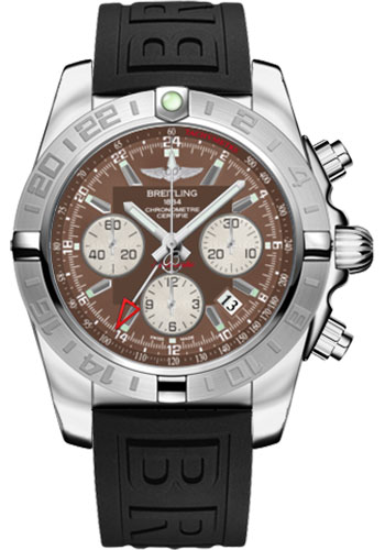 Breitling Watches - Chronomat 44 GMT Stainless Steel on Diver Pro III Tang - Style No: AB042011/Q589-diver-pro-iii-black-tang