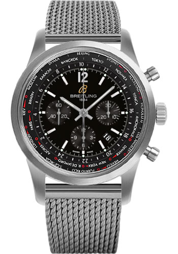 Breitling Watches - Transocean Unitime Pilot Satin Steel - Bracelet - Style No: AB0510U6/BC26-ocean-classic-steel