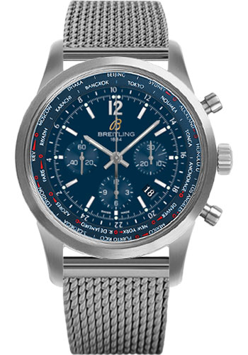 Breitling Watches - Transocean Unitime Pilot Satin Steel - Bracelet - Style No: AB0510U9/C879-ocean-classic-steel