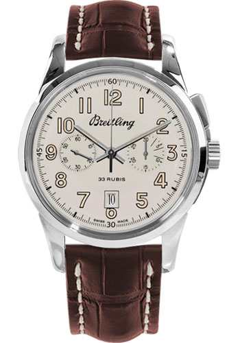 Breitling Watches - Transocean Chronograph 1915 Croco Strap - Deployant - Style No: AB141112/G799-croco-brown-deployant