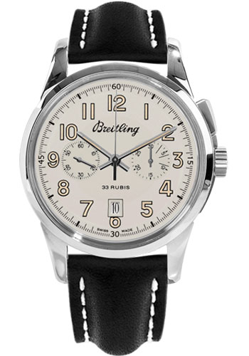 Breitling Watches - Transocean Chronograph 1915 Leather Strap - Deployant - Style No: AB141112/G799-leather-black-deployant