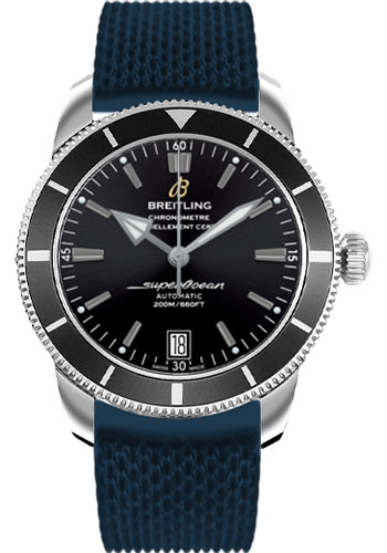 Breitling Watches - Superocean Heritage II 42 Aero Classic Rubber Strap - Style No: AB201012/BF73-aero-classic-rubber-blue-deployant