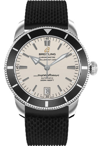 Breitling Watches - Superocean Heritage II 42 Aero Classic Rubber Strap - Style No: AB201012/G827-aero-classic-rubber-black-deployant