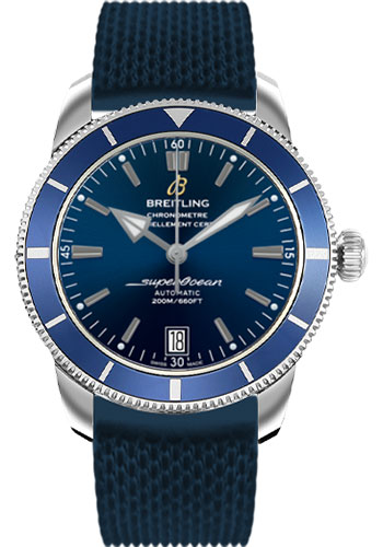 Breitling Watches - Superocean Heritage II 42 Aero Classic Rubber Strap - Style No: AB201016/C960-aero-classic-rubber-blue-deployant