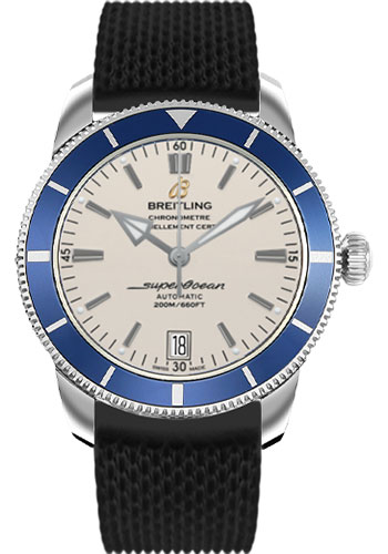 Breitling Watches - Superocean Heritage II 42 Aero Classic Rubber Strap - Style No: AB201016/G827-aero-classic-rubber-black-deployant