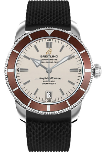 Breitling Watches - Superocean Heritage II 42 Aero Classic Rubber Strap - Style No: AB201033/G827-aero-classic-rubber-black-deployant