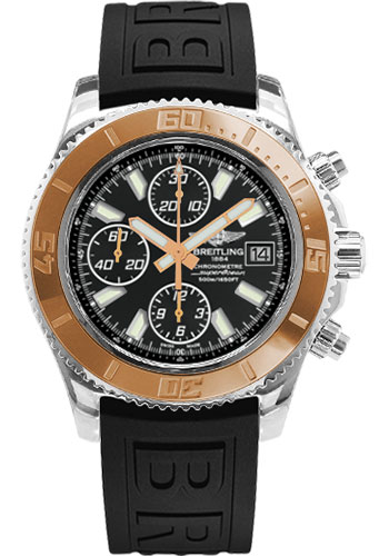 Breitling Watches - Superocean Chronograph II Abyss White Steel and Gold - Style No: C1334112/BA84-diver-pro-iii-black-folding