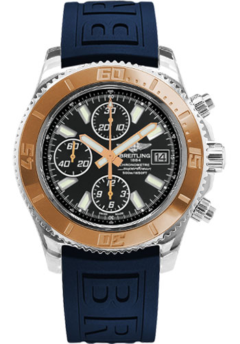 Breitling Watches - Superocean Chronograph II Abyss White Steel and Gold - Style No: C1334112/BA84-diver-pro-iii-blue-folding