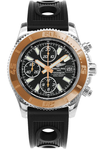 Breitling Watches - Superocean Chronograph II Abyss White Steel and Gold - Style No: C1334112/BA84-ocean-racer-black-folding