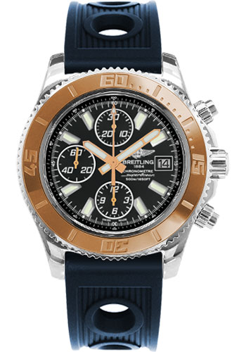 Breitling Watches - Superocean Chronograph II Abyss White Steel and Gold - Style No: C1334112/BA84-ocean-racer-blue-folding