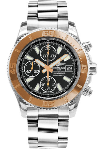 Breitling Watches - Superocean Chronograph II Abyss White Steel and Gold - Style No: C1334112/BA84-professional-steel