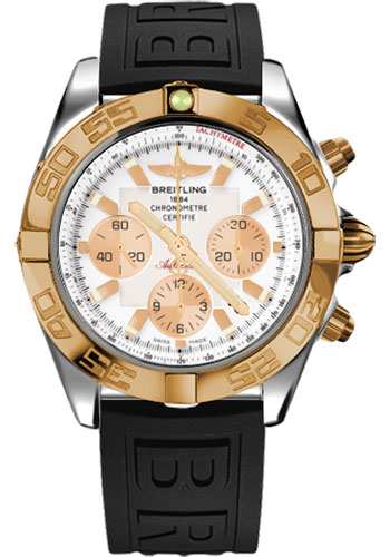 Breitling Watches - Chronomat 44 Steel and Rose Gold Polished Bezel - Diver Pro III Strap - Tang - Style No: CB011012/A696-diver-pro-iii-black-tang