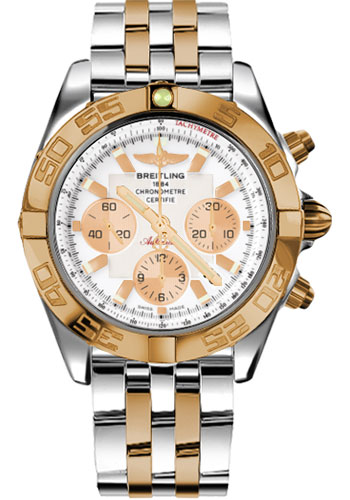 Breitling Watches - Chronomat 44 Steel and Rose Gold Polished Bezel - Pilot Two Tone Bracelet - Style No: CB011012/A696-pilot-two-tone