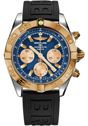 Breitling Watches - Chronomat 44 Steel and Rose Gold Polished Bezel - Diver Pro III Strap - Deployant - Style No: CB011012/C790-diver-pro-iii-black-deployant