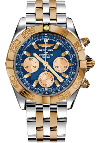 Breitling Watches - Chronomat 44 Steel and Rose Gold Polished Bezel - Pilot Two Tone Bracelet - Style No: CB011012/C790-pilot-two-tone