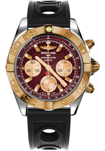 Breitling Watches - Chronomat 44 Steel and Rose Gold Polished Bezel - Ocean Racer Strap - Deployant - Style No: CB011012/K524-ocean-racer-black-deployant