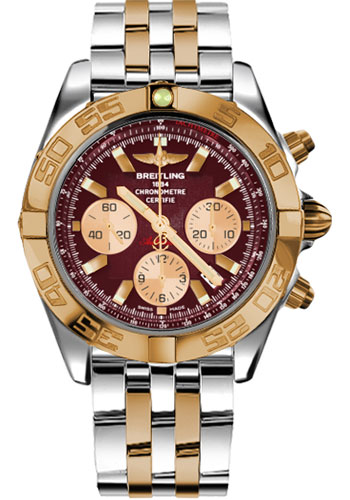 Breitling Watches - Chronomat 44 Steel and Rose Gold Polished Bezel - Pilot Two Tone Bracelet - Style No: CB011012/K524-pilot-two-tone