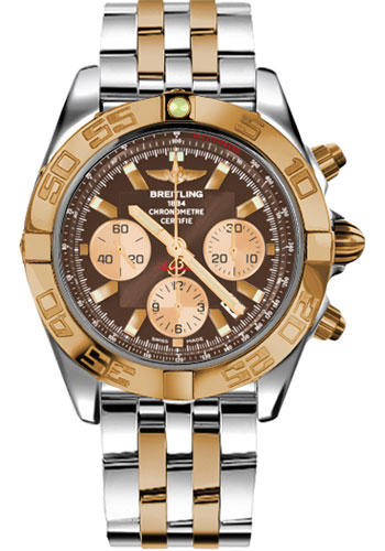 Breitling Watches - Chronomat 44 Steel and Rose Gold Polished Bezel - Pilot Two Tone Bracelet - Style No: CB011012/Q576-pilot-two-tone