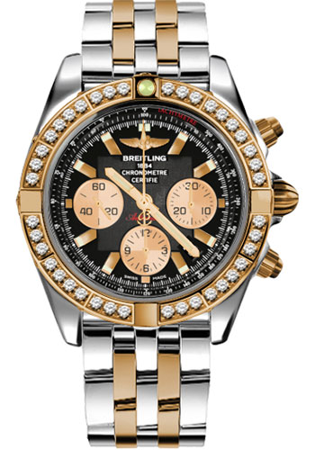 Breitling Watches - Chronomat 44 Steel and Rose Gold 40 Dia Bezel - Pilot Bracelet - Two-Tone - Style No: CB011053/B968-pilot-two-tone