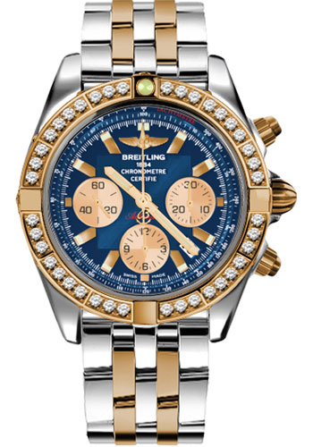 Breitling Watches - Chronomat 44 Steel and Rose Gold 40 Dia Bezel - Pilot Bracelet - Two-Tone - Style No: CB011053/C790-pilot-two-tone