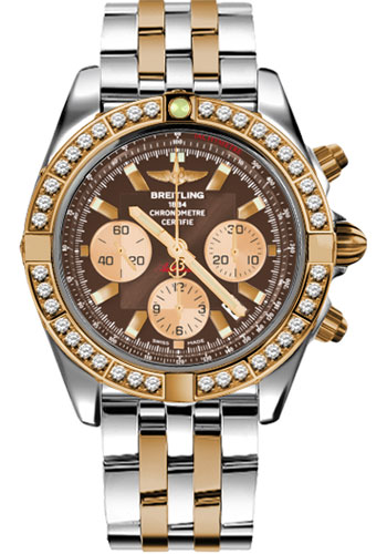 Breitling Watches - Chronomat 44 Steel and Rose Gold 40 Dia Bezel - Pilot Bracelet - Two-Tone - Style No: CB011053/Q576-pilot-two-tone