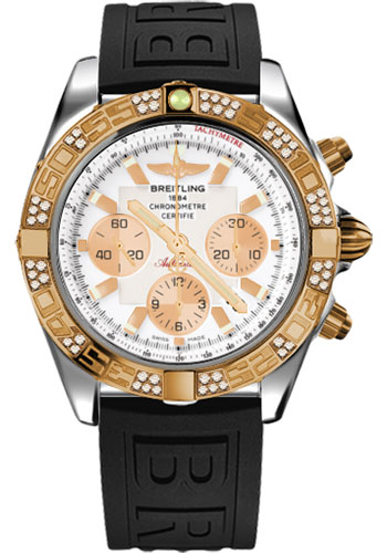Breitling Watches - Chronomat 44 Steel and Rose Gold 60 Dia Bezel - Diver Pro III Strap - Tang - Style No: CB0110AA/A696-diver-pro-iii-black-tang
