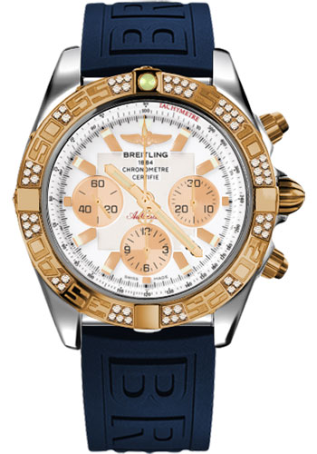 Breitling Watches - Chronomat 44 Steel and Rose Gold 60 Dia Bezel - Diver Pro III Strap - Tang - Style No: CB0110AA/A696-diver-pro-iii-blue-tang