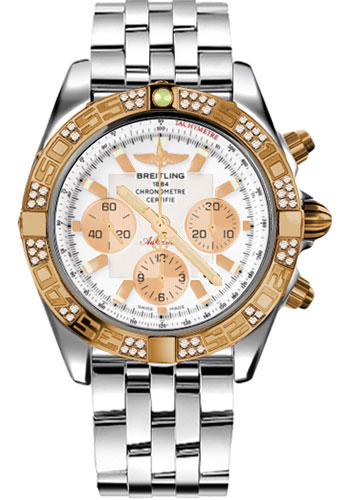 Breitling Watches - Chronomat 44 Steel and Rose Gold 60 Dia Bezel - Pilot Bracelet - Steel - Style No: CB0110AA/A696-pilot-steel