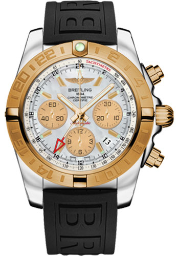 Breitling Watches - Chronomat 44 GMT Steel and Gold on Diver Pro III Tang - Style No: CB042012/A739-diver-pro-iii-black-tang