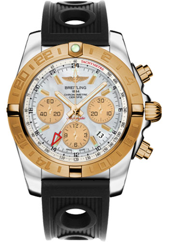 Breitling Watches - Chronomat 44 GMT Steel and Gold on Ocean Racer - Style No: CB042012/A739-ocean-racer-black-folding