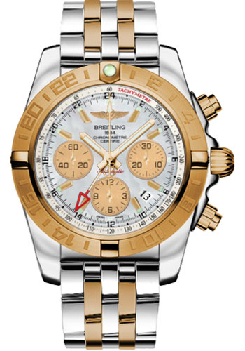 Breitling Watches - Chronomat 44 GMT Steel and Gold on Bracelet - Style No: CB042012/A739-pilot-steel-rose-gold