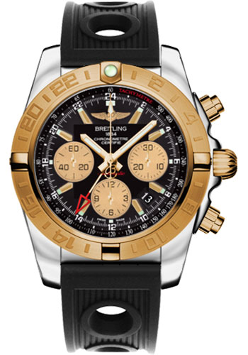 Breitling Watches - Chronomat 44 GMT Steel and Gold on Ocean Racer - Style No: CB042012/BB86-ocean-racer-black-folding
