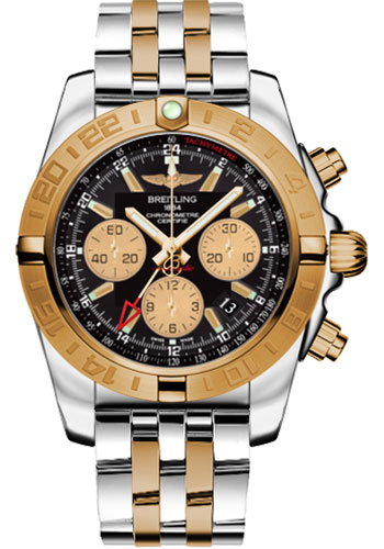 Breitling Watches - Chronomat 44 GMT Steel and Gold on Bracelet - Style No: CB042012/BB86-pilot-steel-rose-gold