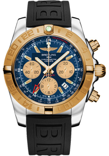 Breitling Watches - Chronomat 44 GMT Steel and Gold on Diver Pro III Deployant - Style No: CB042012/C858-diver-pro-iii-black-folding