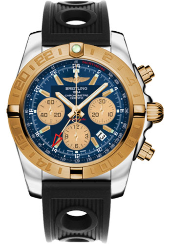 Breitling Watches - Chronomat 44 GMT Steel and Gold on Ocean Racer - Style No: CB042012/C858-ocean-racer-black-folding