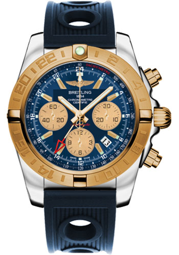 Breitling Watches - Chronomat 44 GMT Steel and Gold on Ocean Racer - Style No: CB042012/C858-ocean-racer-blue-folding