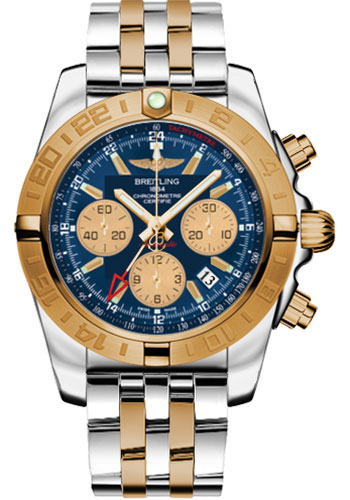 Breitling Watches - Chronomat 44 GMT Steel and Gold on Bracelet - Style No: CB042012/C858-pilot-steel-rose-gold