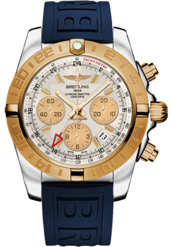 Breitling Watches - Chronomat 44 GMT Steel and Gold on Diver Pro III Deployant - Style No: CB042012/G755-diver-pro-iii-blue-folding