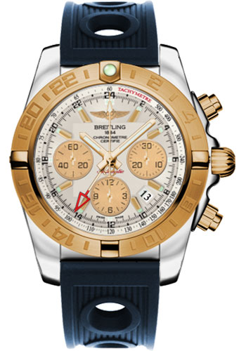 Breitling Watches - Chronomat 44 GMT Steel and Gold on Ocean Racer - Style No: CB042012/G755-ocean-racer-blue-folding