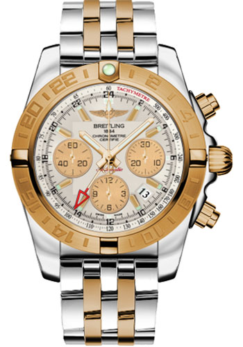 Breitling Watches - Chronomat 44 GMT Steel and Gold on Bracelet - Style No: CB042012/G755-pilot-steel-rose-gold