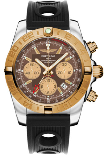 Breitling Watches - Chronomat 44 GMT Steel and Gold on Ocean Racer - Style No: CB042012/Q590-ocean-racer-black-folding