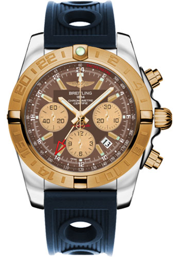 Breitling Watches - Chronomat 44 GMT Steel and Gold on Ocean Racer - Style No: CB042012/Q590-ocean-racer-blue-folding