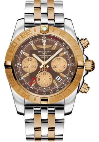 Breitling Watches - Chronomat 44 GMT Steel and Gold on Bracelet - Style No: CB042012/Q590-pilot-steel-rose-gold